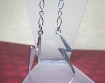 Lightning Bolt Dangle Earrings