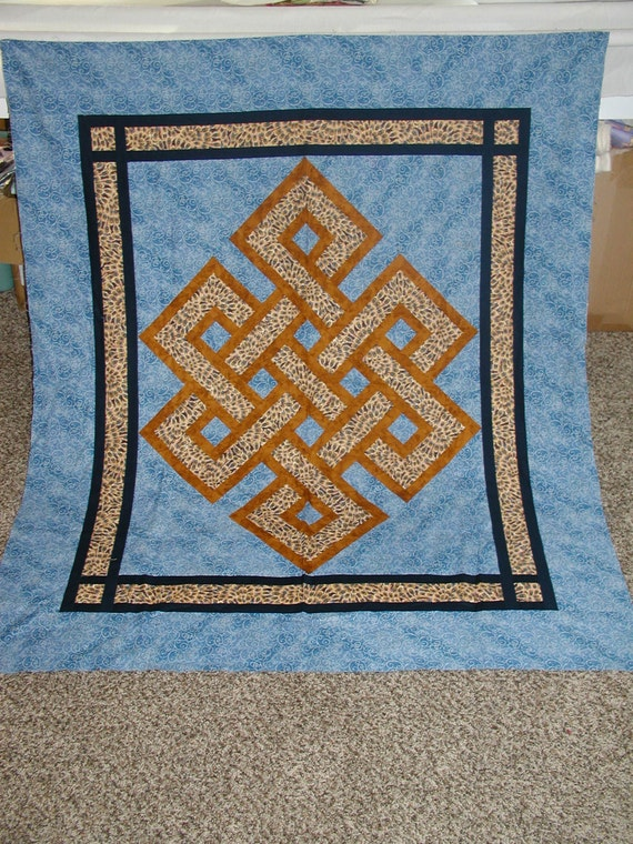 Items Similar To Masculine Gordian Knot Quilt Top On Etsy