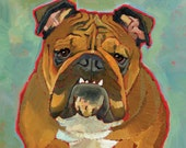 This Is My Happy Face - bulldog magnets, coasters and art prints inspirational