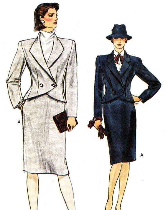1980s Womens 1980s Womens Suit Pattern