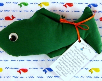 Dammit Fish Stress Relief Doll  Solid Green