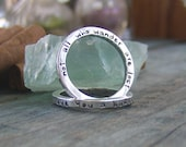 sterling silver stackable stacking ring (stamped on one side)