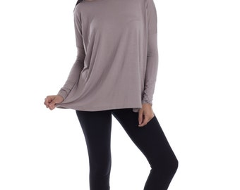 Womens Oversized Tshirt  Raglan Shirt Long Sleeve Blouse