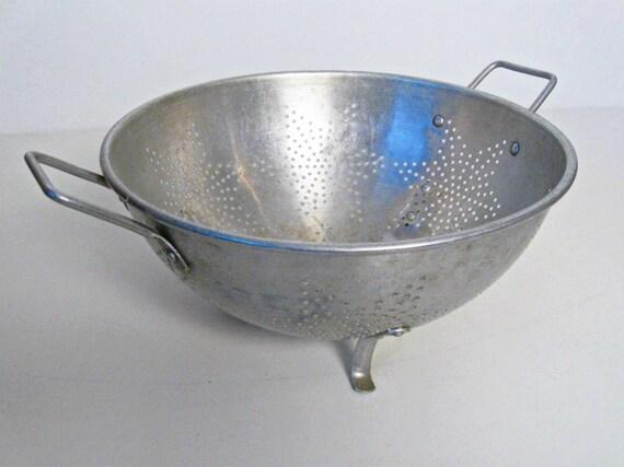 Reserved For Eric Vintage Metal Colander Kitchen Strainer