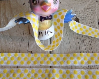 Sale-Elastic-YELLOW LARGE DOT  5/8 inches  10 yards