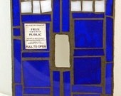 Doctor Who TARDIS Mosaic Light Switch Plate Cover Made-To-Order