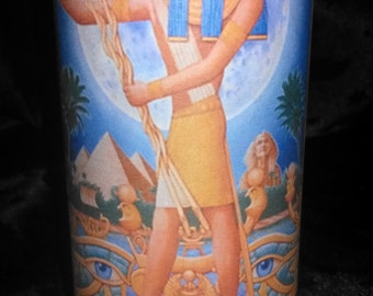 Wicca Witch Pagan Altar Spell Magick Egyptian God THOTH Creativity Wisdom Communication Ritual Meditation Blue Candle