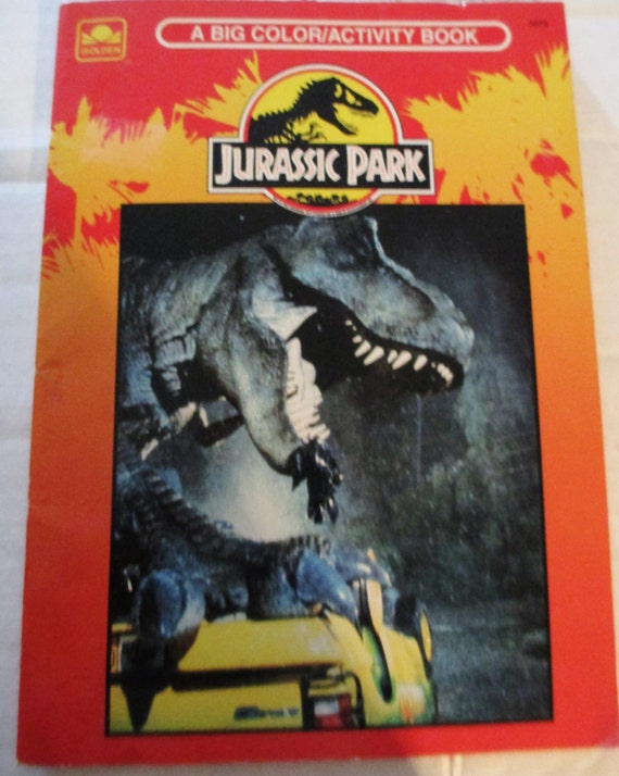 Coloring Pages Jurassic Park Vintage 1993 And Activity Book Never