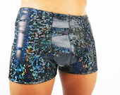 Men's Holographic Pouch Shorts, Best Selling Booty Shorts - Hot Pants - Hologram Shiny