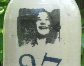 Janis Joplin moonshine whiskey jug decorative