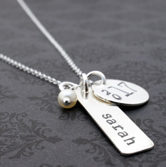 graduation jewelry gift class of 2018 personalized necklace. Black Bedroom Furniture Sets. Home Design Ideas