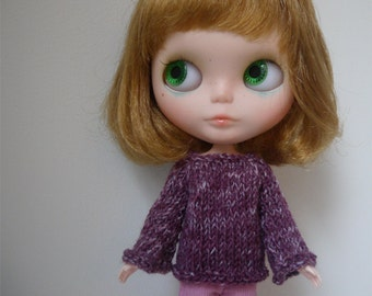 Blythe Sweater - PLUM with Bell Sleeves
