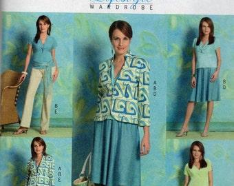 Butterick 4745 Misses Princess Seam Jacket V Neck Dress Top Skirt Pants Pattern  Womens Sewing Pattern Size  6 - 12 Bust 30 - 34 UNCUT
