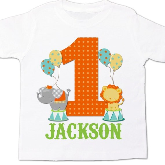 Circus 1st Birthday Shirt Circus Elephant Lion By Zoeysattic