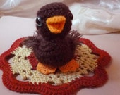Baby Duckling Doll Hand Crocheted