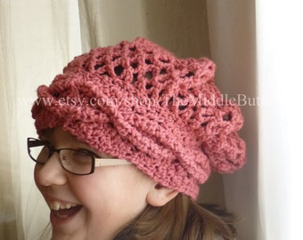 Bridget - Cozy Snood - In Bright Rose