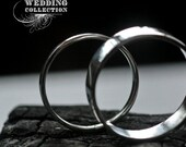 Recycled Platinum Wedding Bands Simple and Polished