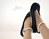 Crochet Slipper Pattern - Molly Summer Slippers - Child slippers adult slippers
