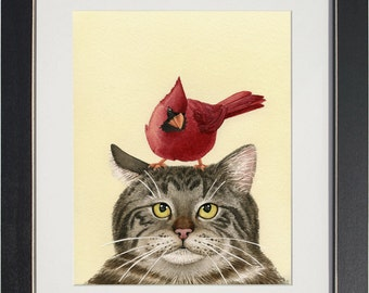 A Peculiar Encounter - archival watercolor print by Tracy Lizotte