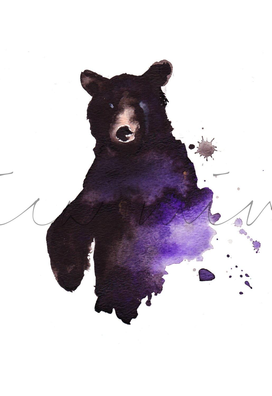 Watercolor bear