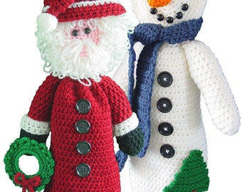 Santa and Snowman Bag Keeper Patterns PDF