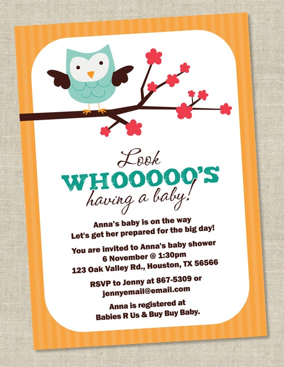 owl baby shower invitations owls invites gender neutral printable