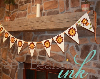 JUNGLE LION Baby Shower It's a Boy Printable Party Banner
