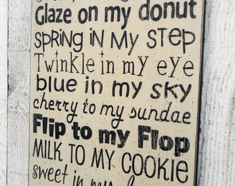 You are the peanut to my butter - Love of my life - typography word art wood sign