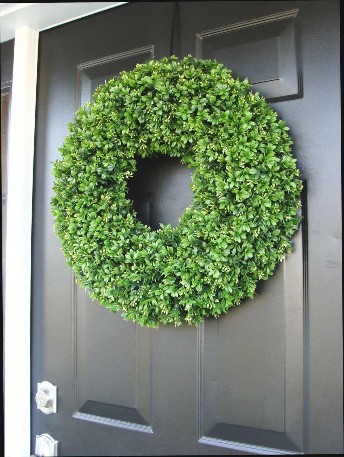 Year Round Wreath Front Door Decor Faux Boxwood Wreath