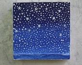 "Stars over water 4"" square - roseymorris"