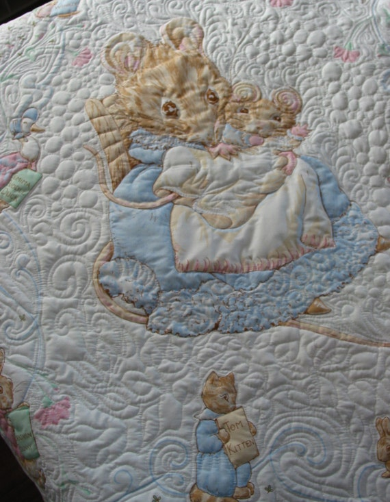 Beatrix Potter Baby Bedroom: Reserved For Toni Beatrix Potter Quilt Appley Dapply The