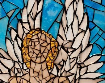 Angel mosaic 8x10 - Matted Giclée Fine Art Print by Cherie Bosela