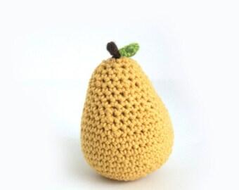 Handmade Knit Pear Fruit