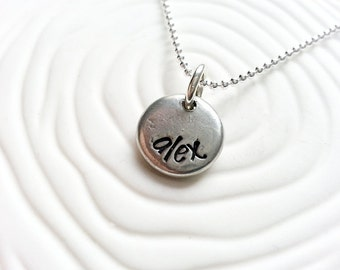 Personalized Hand Stamped Name Necklace - Mothers Jewelry