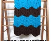 Baby blanket crochet pattern, chevron baby blanket pattern, ripple blanket, chunky crochet blanket pattern, easy crochet blanket pattern