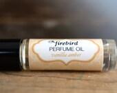 Vanilla Amber Perfume Oil, Sweet Vanilla, Cardamom, Sandalwood - Roll On Perfume