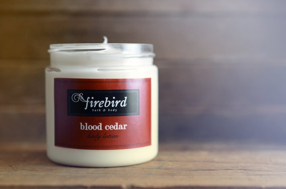 Blood Cedar Body Lotion, Avocado and Shea Butter Lotion