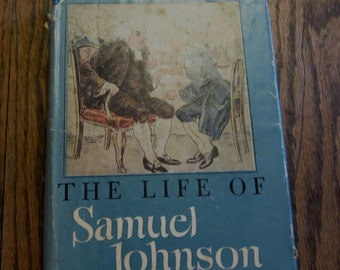 The Life of Samuel Johnson a Biography Vintage Book by James Boswell 1946