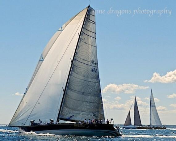 Grey & Blue Sailboat Photography, Sailboat Art for Men, Nautical Art Wedding Gift, Pale Blue Nautical Decor, Coastal Decor, Sailboat Print