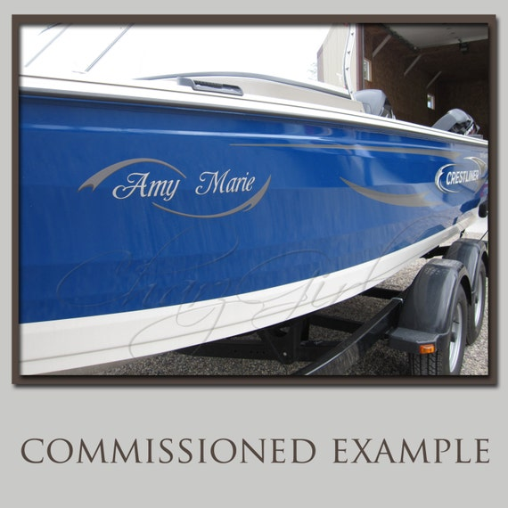 Design your boat decal letters