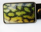 Walleye Fish Skin Fisherman Belt Buckle