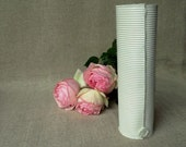 White Vase Duct Porcelain Paperclay  - Porcelain paperclay
