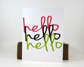 Hello Card, All Occasion Greeting Card, Thank You Card - single - craftedbylindy