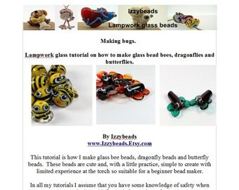 Bumble Bees Lampwork glass bead tutorial by Laney Mead - Izzybeads - instant download sculptural bead making