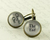 Perfect Gift For Book Lover - Book Earrings - Chapter One The End - Literary Jewelry - Gift For Writers - Perfect Gift For Reader