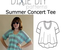 Summer Concert Tee Pattern - PDF Download