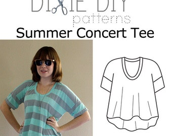 Summer Concert Tee Pattern - PDF Download