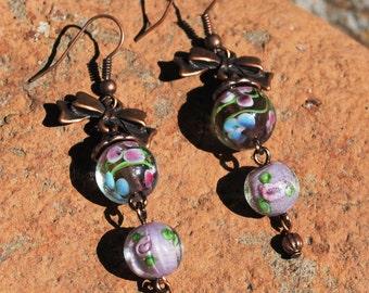 Blossom Purple Earrings