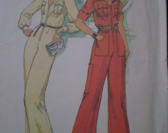 1970s VINTAGE pattern Simplicity 7310 size 6 and 8 Jumpsuit