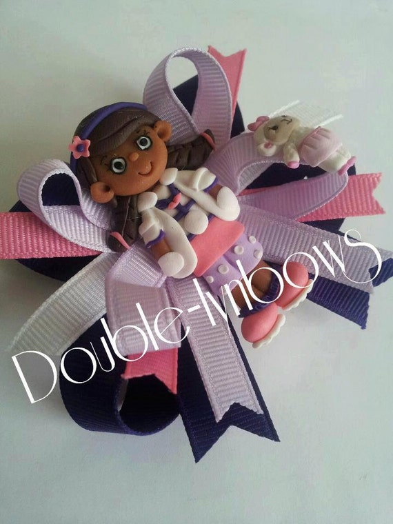 Doc. McStuffins hairbow bow from Double-lynbows